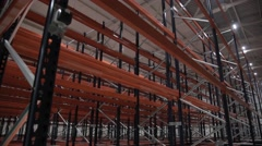 Factory, empty warehouse, a large space, a new business Stock Footage