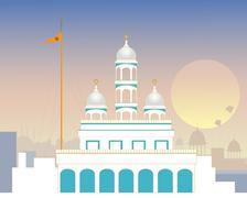 Urban gurdwara Stock Illustration