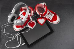 Love for music concept. - stock photo