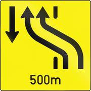 Lane Crossover in Austria - stock illustration