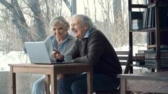 Computerate Seniors Stock Footage