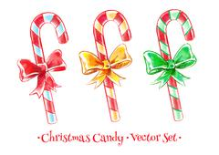 Christmas candy set Stock Illustration