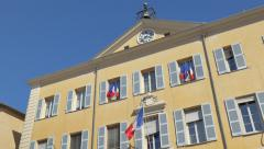 French town hall building, Hotel de Ville (Mairie), in Antibes Stock Footage
