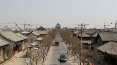 Ancient city in Liaocheng Stock Footage