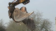 Mechanical Excavator Stock Footage