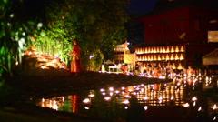 Buddha Day Chiang Mai Stock Footage