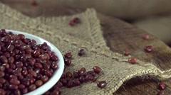 Red Beans (seamless loopable) Stock Footage