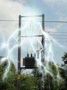 Electricity overload - stock illustration