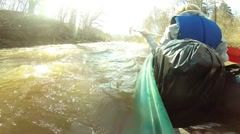 Rowing down a wild river Stock Footage