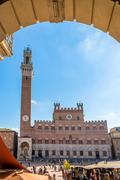 Piazza del Campo square in Siena, Italy. Stock Photos