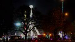 Luna Park at night - Ranger 2 Stock Footage