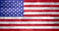 United States of America flag - stock illustration