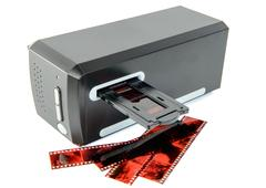Scanner for slides and films Stock Photos