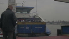 Amsterdam HD  ferryboat people _1 Stock Footage
