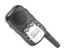 Walkie Talkie in Black Plastic Case Isolated Stock Photos