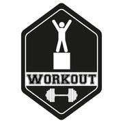 Vintage cross fit and workout Labels - stock illustration