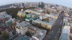 Aerial view of national Opera in  Kiev, Ukraine Stock Footage