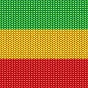 Knitted reggae pattern - stock illustration