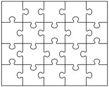 White puzzle  Stock Illustration