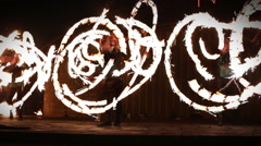 Minsk, Belarus - september 29: fire show Stock Footage
