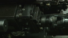 Multi spindle turning lathe, processing and manufacturing of metal elements. Stock Footage