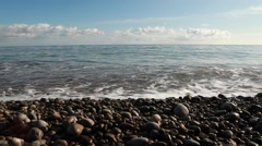 Crimea. The Black Sea. Coast and waves.2012 Stock Footage