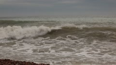 Crimea. Storm on the sea. Waves.2012 Stock Footage
