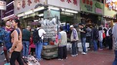 Customers visit fish shop on in Hong Kong - stock footage
