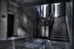 Staircase and elevator shaft shadows and light Kuvituskuvat