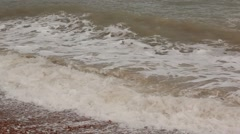 Crimea. Storm on the sea. Waves.2012 - stock footage