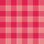 Tile vector pattern on pink plaid background Stock Illustration