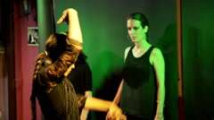 Beautiful woman dancing flamenco during show - EDITORIAL HD Stock Footage