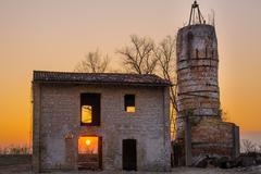 Furnace abandoned - stock photo