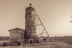 Vintage effect, abandoned furnace Stock Photos
