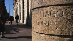 Exterior of the base of the statue of Sain Patron of Santiago city, Chile. - stock footage