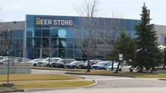 The Beer Store Headquarters Mississauga - stock footage