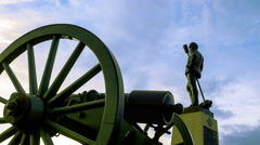 Gettysburg Civil War Statue Time-lapse Stock Footage