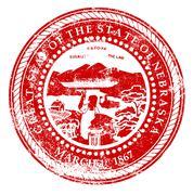 Nebraska Rubber Stamp - stock illustration