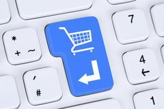 Online shopping order e-commerce internet shop concept - stock photo