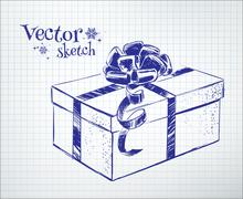 Gift box Stock Illustration