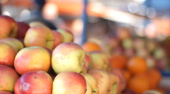 Lovely apples Grocery healthy organic food market Stock Footage