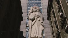 Exterior of the statue of Sain Patron of Santiago city, Chile. - stock footage