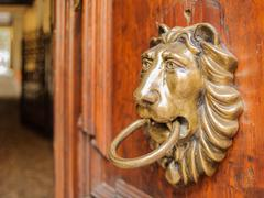 Lion knocker Stock Photos