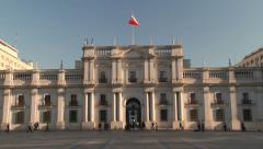 Exterior of the La Moneda Presidential palace in Santiago, Chile. - stock footage