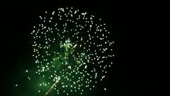 Stock Video Footage of beautiful fireworks over sky at night