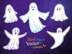 Stock Illustration of Cute ghosts