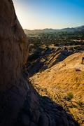 Stock Photo of Rocks and view of Vasquez Rocks County Park, in Agua Dulce, California.