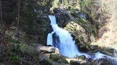 Triberg Waterfalls wide 1 Stock Footage
