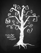 Spooky tree - stock illustration