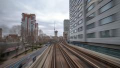 DLR in London Stock Footage
